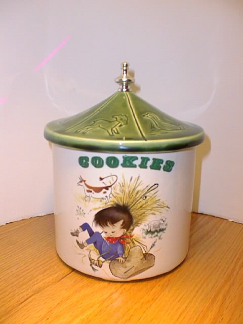 "Nursery Rhyme ""Little Boy Blue"" Cookie Jar by McCoy"