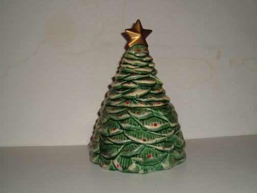 Christmas Tree Cookie Jar by California Originals