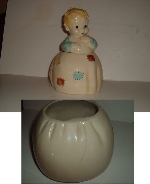 BRUSH - Little Girl cookie jar