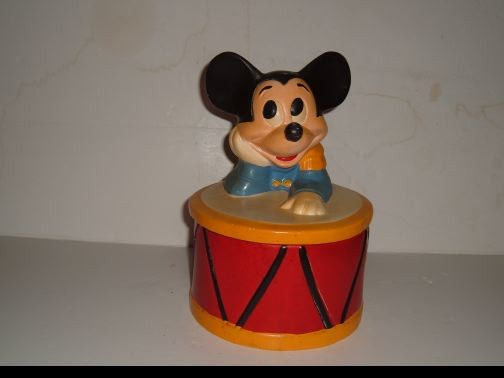 Mickey Mouse Leaning on a Drum cookie jar