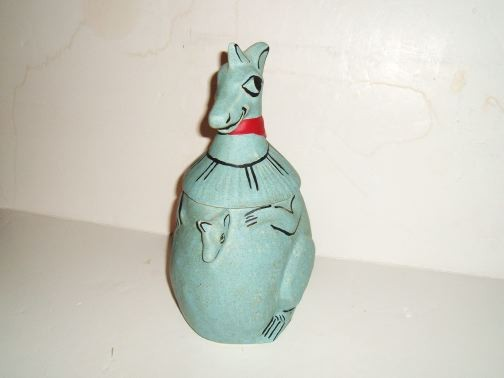 Blue Kangaroo Cookie Jar by McCoy.