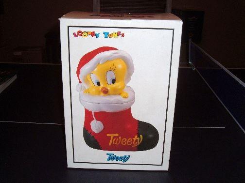 Tweety Christmas Stocking Cookie Jar