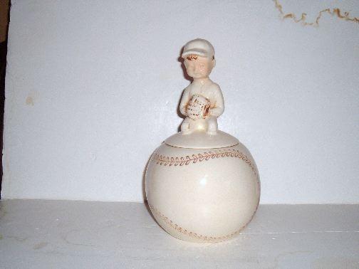 BOY ON BASEBALL Cookie Jar by McCoy.
