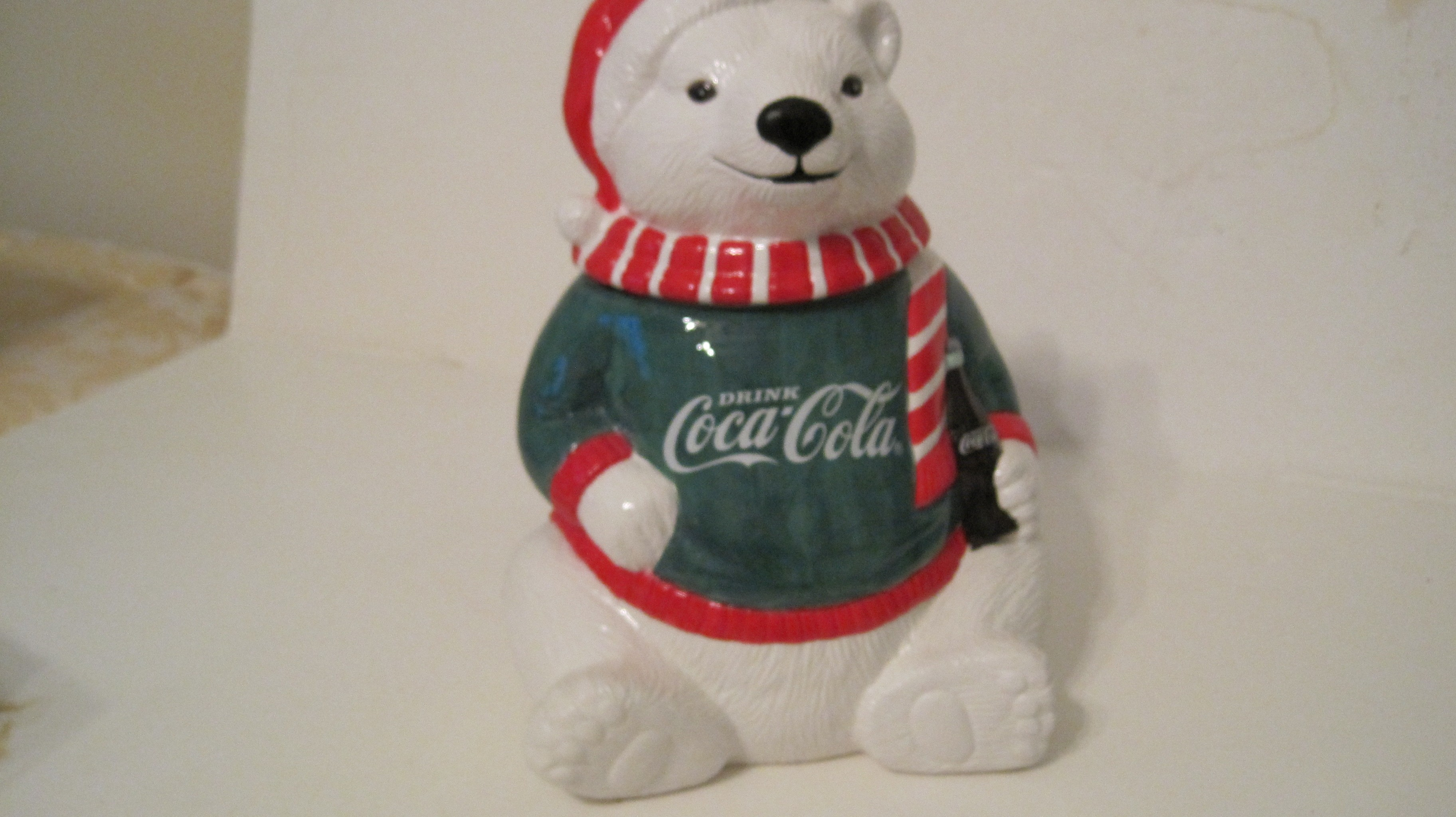 Coke Polar Bear w/Green Sweater