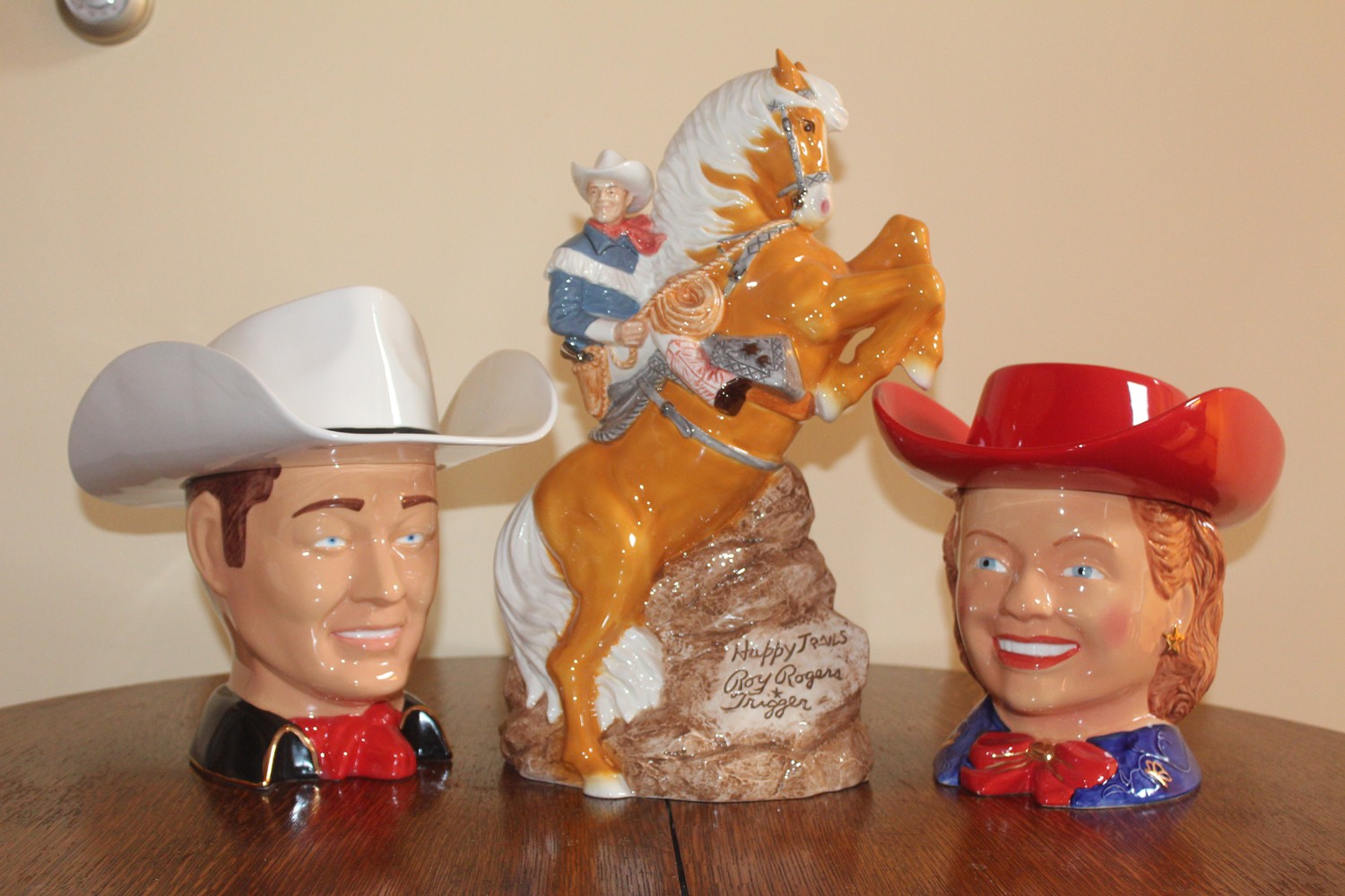 Roy Rogers and Dale Evans with Trigger Cookie Jar Set. (Collector Value $900)