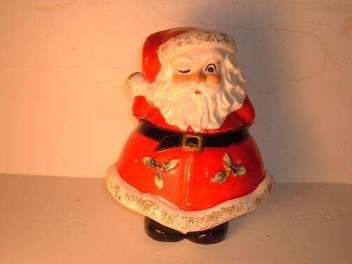 LEFTON CHINA - Winking Santa Cookie Jar