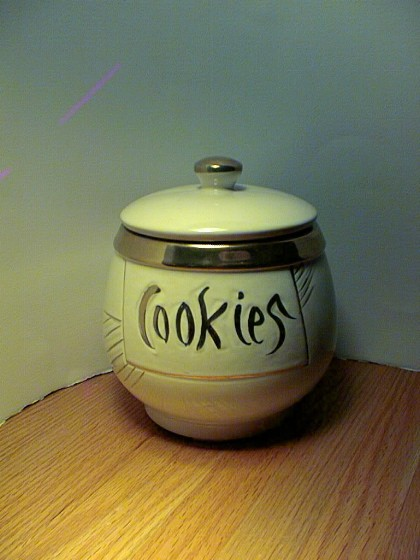 McCoy - White with Gold Trim Cookie Jar