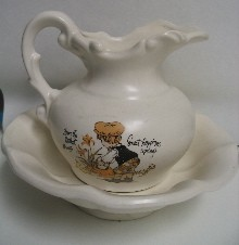Pitcher and Bowl Set - Happy Time Pitcher and Bowl