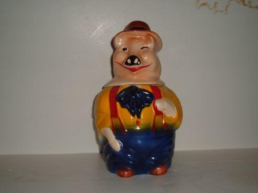 Winking Pig Cookie Jar by McCoy