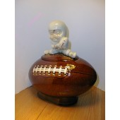 Boy on a Football Cookie Jar by McCoy
