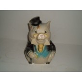 BRUSH - Formal Pig cookie jar