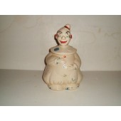 Clown w/Hands on Stomach cookie jar
