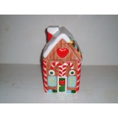 GINGERBREAD HOUSE Cookie Jar by Lillian Vernon.