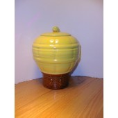 McCoy - Hot Air Balloon - Yellow Cookie Jar. From a Private Collection this McCoy Cookie Jar is in Mint condition.  The jar is certified as an original McCoy. Mark:  USA, circa 1985-86