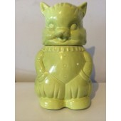 Green Cat Cookie Jar