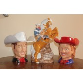 Roy Rogers and Dale Evans with Trigger Cookie Jar Set.