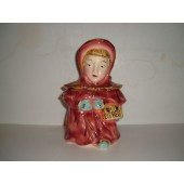 BRUSH - Red Riding Hood (Gold Trim) Cookie Jar