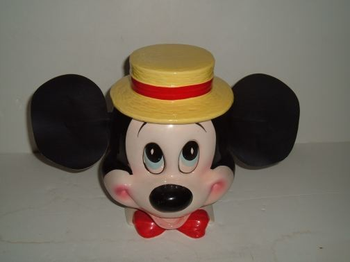 Mickey Mouse w/Leather Ears Cookie Jar