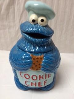 Cookie Chef Cookie Jar (COOKIE MONSTER)