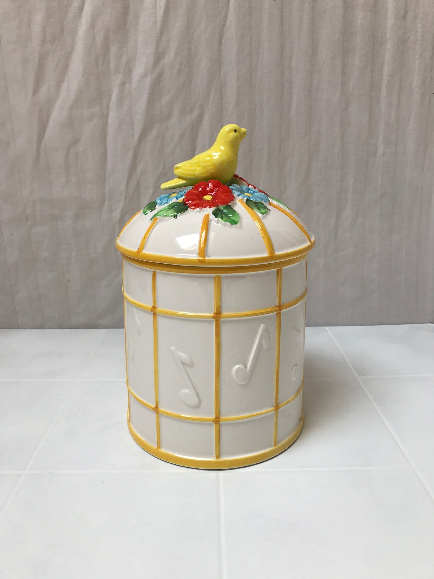 BIRD ON A GILDED CAGE Cookie Jar