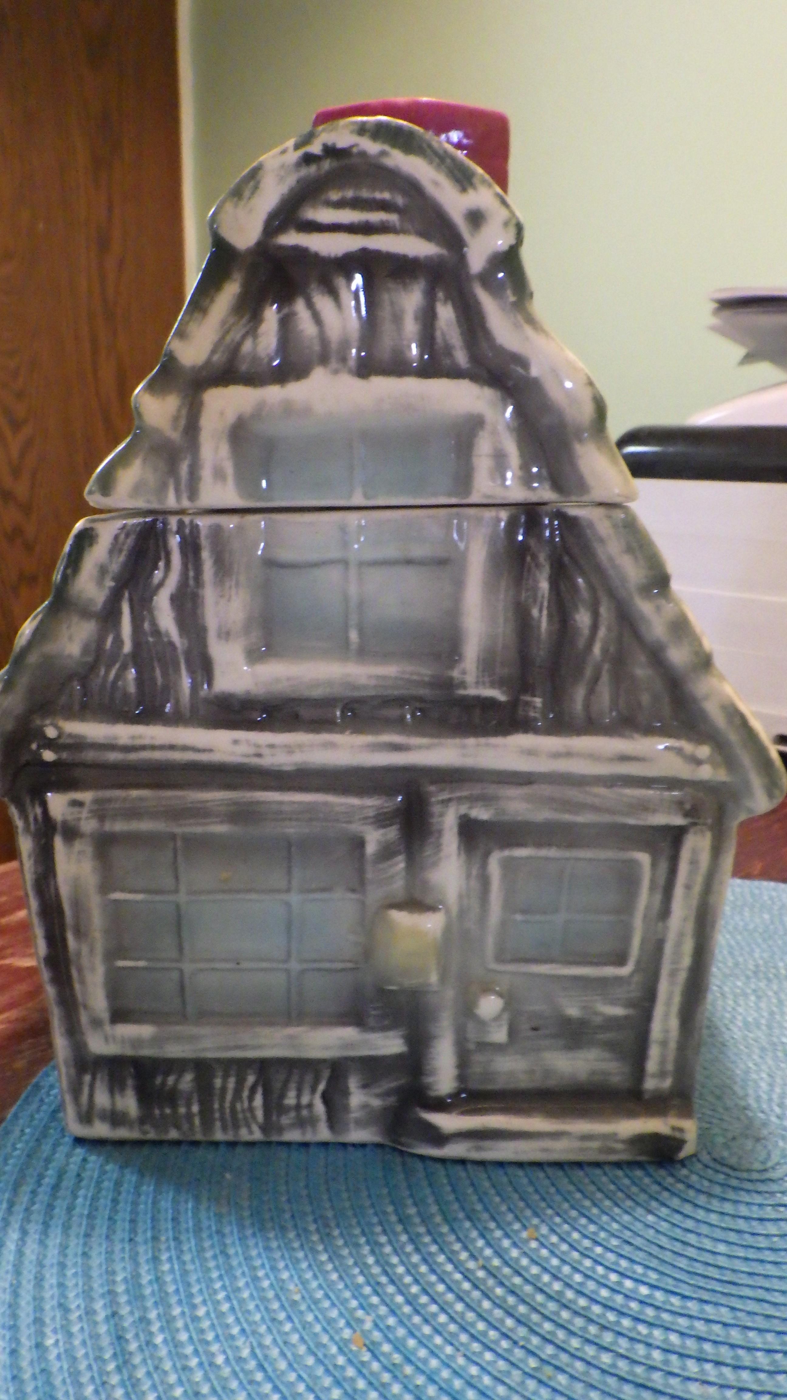 Brush Cookie House Cookie Jar
