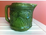 "RARE -"" Woodland Green"" Pitcher ""Cusick"" signed"