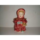 BRUSH - Red Riding Hood (Gold Trim) Cookie Jar